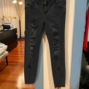 Forever 21 Ripped Skinny Jeans